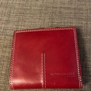 Red Kenneth Cole New York Red Bi-fold Wallet